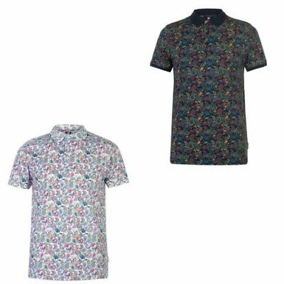 Soviet Paisley Print Polo Shirt Mens Collared Top Tee Multi X-Small