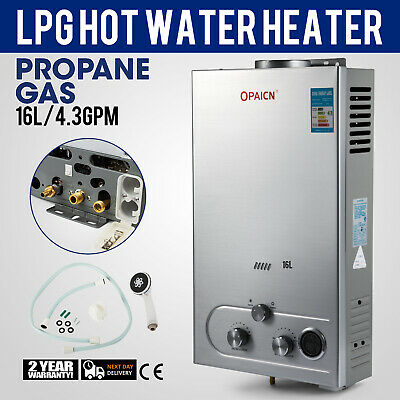 Hot Water Heater 16L 4.3GPM Propane Gas Tankless Boiler Instant LPG Shower