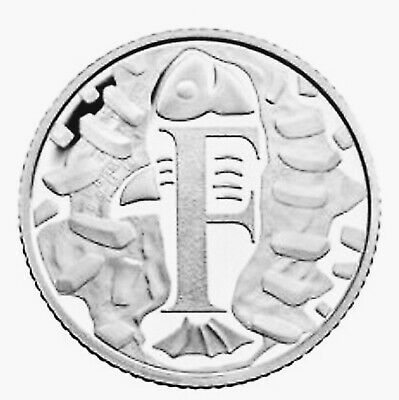 Rare 2018 F Alphabet 10p Ten Pence Coin Fish And Chips