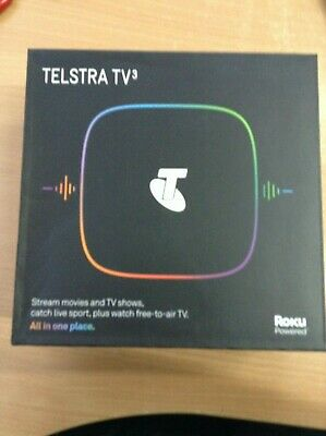 #876 New Telstra Tv3 4701Tl  Powered By Roku