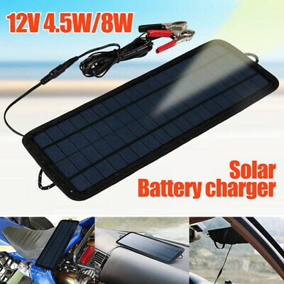 4.5W/8W 12V Volt Cars Boats Motorcycle Battery Charger Solar Power Panel Trickle