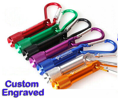 Personalised Custom Metal Keyring Mini Torch Custom Engraved Promotional