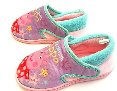 Peppa Pig Character Girls Soft Pink Slippers Sandals Size 10 UK
