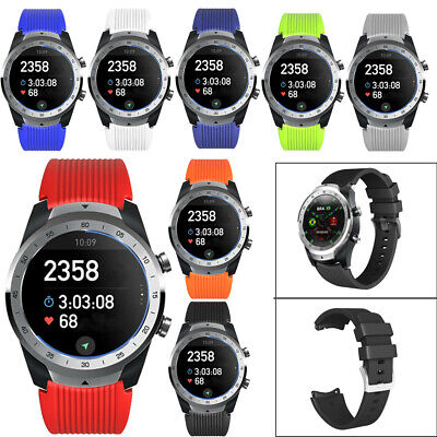Soft Sport Silicone Band Replacement Strap WristBand For TicWatch Pro Popular