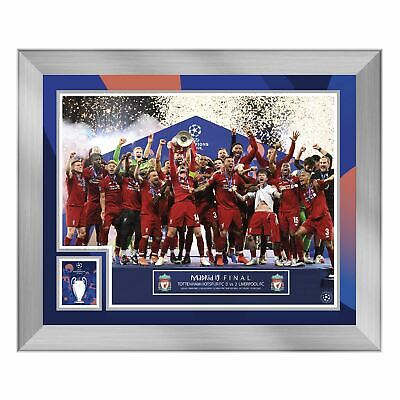 Liverpool FC UCL Final 20x16 Celebration Frame LFC Official