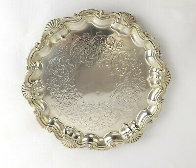 Waiter Salver Tray Sterling Silver Classic Rococo Revival Martin Hall Co 1869