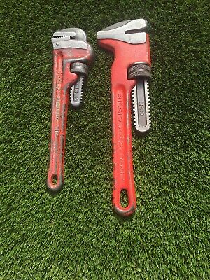 "Ridgid USA Spud 2 5/8 Capacity & 10"" Heavy Duty Pipe Wrench Pre-owned"