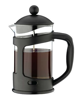 Café Ole 3 Cup Everyday Glass Cafetiere Fresh Coffee Maker 350ml 0.35L, Black