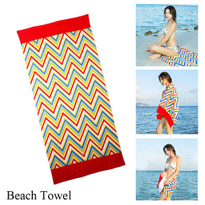 Striped Extra Large Microfibre Lightweight Beach Towel Quick Dry Travel Towel UK
