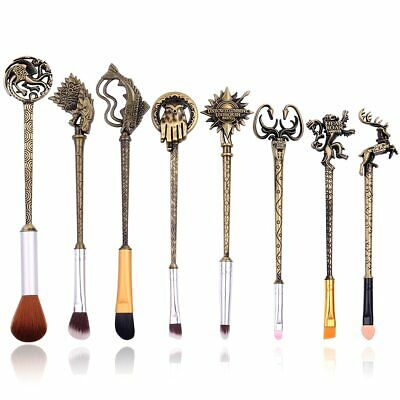 Game of Thrones Makeup Brush Set Soft Synthetic Collection Kit Comestic Tool