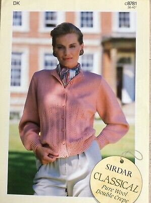 Ladies Sirdar DK Cardigan Knitting Pattern