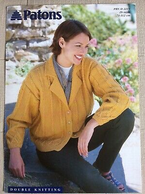 Ladies Patons DK Cardigan Knitting Pattern