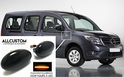 2 x SMOKED BLACK SIDE MARKER LIGHTS REPEATERS LED for MERCEDES CITAN W415 2012<