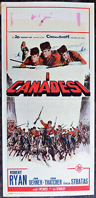 Locandina Originale I Canadesi 61 The Canadians Robert Ryan