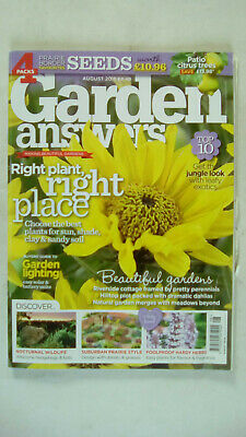 Garden Answers Magazine August 2018 Magazine Only No Free Seeds