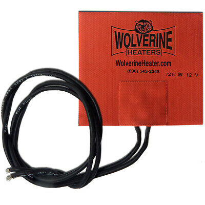 "Wolverine Silicone Pad Heater 4 x 4"" 125w 12v - Engine Oil Sump Fuel Filter"