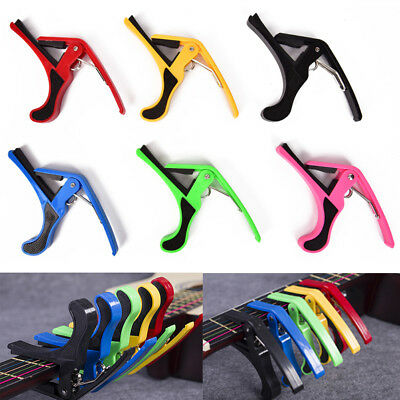 Quick Change Clamp Key Acoustic Classic Guitar Capo For Electric Acoustic ZX