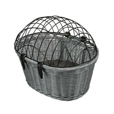 Bicycle Front Wicker Style Basket For Cat/Dog, Luggage Bike Handle Bar Mounted
