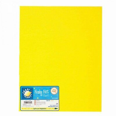 "Craft Planet Funky Acrylic Felt Fabric 9"" x 12"" Yellow Pk 24"