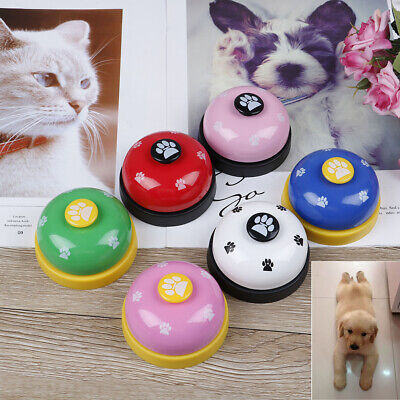 Cute Pet training bell dog toys Puppy Pet Call Dog paw print ringer pet suppl ZB