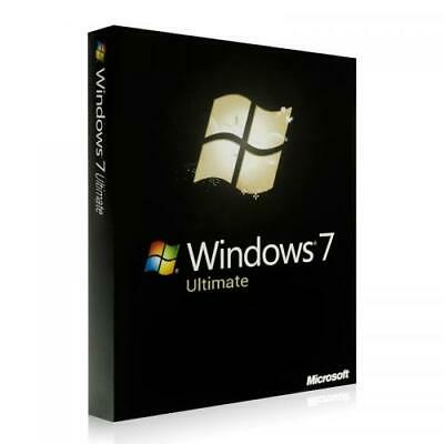 Microsoft Windows 7 Ultimate Pro Für 64Bit Vollversion ESD Produktkey Mail Vers.