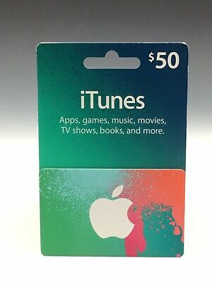 Apple App Store & iTunes $50 Physical Gift Card For Apps Music TV Shows Books