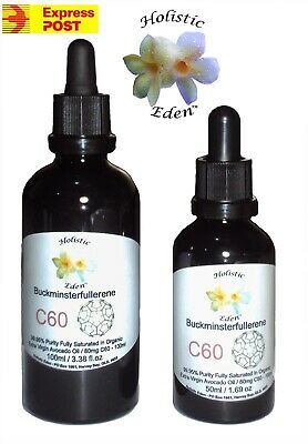 C60 Carbon 60, Fullerene Saturated Organic Cold Pressed Avocado Oil 99.95% Pure