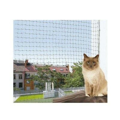 Protective Anti Bite Cat Net, Woven in Wire, Olive Green, Balcony Netting 6 x 3m