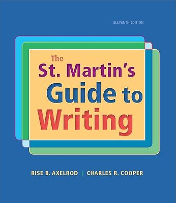 ONLINE BOOK/EBOOK The St. Martins Guide to Writing Eleventh Edition 978131901603