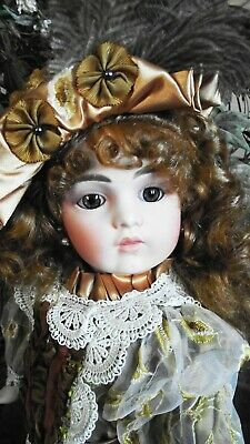 ANTIQUE REPRODUCTION BRU JNE 13 PORCELAIN DOLL BARBARA OTA 22in LINDSEY NEW