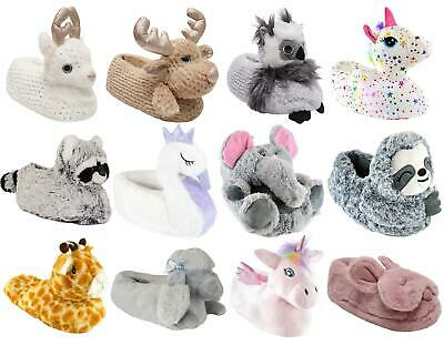 Womens Ladies Undercover 3D Soft Comfy Character Novelty Animal Unicorn Slippers