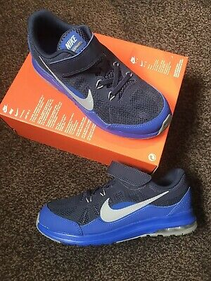BOYS NIKE TRAINERS Size 12 Kids Blue With Velcro Straps