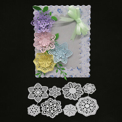 CO_ 8Pcs 3D Flower Set Cutting Dies Stencil Scrapbook Embossing Paper Crafts Fas