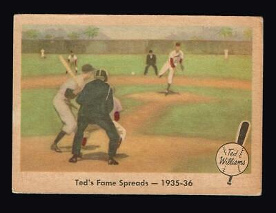 1959 Fleer #5 Ted Williams Ted's Fame Spreads 1935 - 36 Boston Red Sox HOF