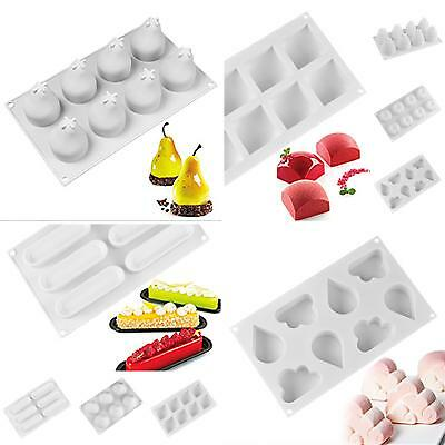 CO_ KQ_ HK- Fruits Silicone Cake Mould Mousse Muffin Maker Mold Baking Tool DIY