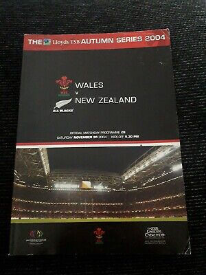 2004-Wales V New Zealand-All Blacks-Autumn Test International Rugby Programme