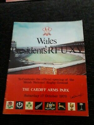 1970-Wales V President's Rfu Xv-Cardiff Arms Park Opening-Rugby Union Programme