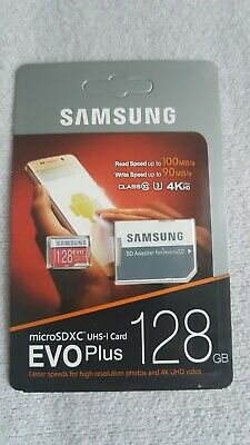 128 GB Samsung EVO Plus Micro SD Karte SDXC UHS-1 Card inkl. SD Adapter NEU! OVP