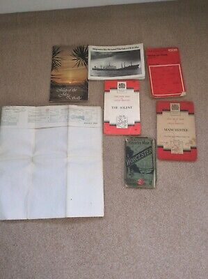 Joblot Of 5 Old Maps Antique Vintage Ord Survey Bacons