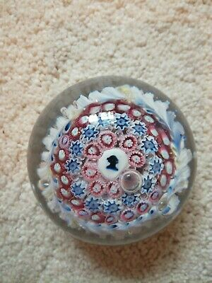Rare Antique 19Th Century English Silhouette Glass Paperweight L@@K