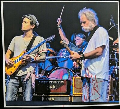 John Mayer Bob Weir Signed Grateful Dead And Company Photo