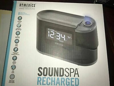 HoMedics Soundspa, Recharged-Projection Alarm Clock-8 relaxations sounds SS-5080