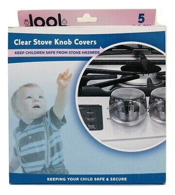 Jool Baby Products Clear Stove Knob Covers Child Proof Heat Resistant 5 pack