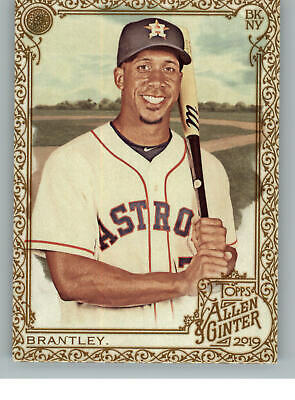 2019 Topps Allen & Ginter Gold Hot Box 218 Michael Brantley - Houston Astros