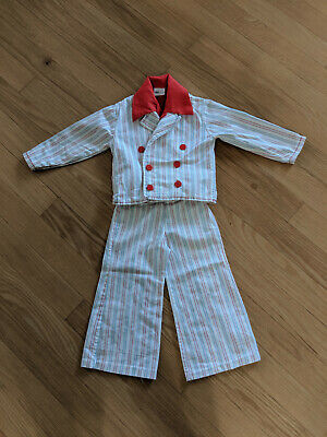 Vintage Retro Hipster 1970s Boy's Wide Leg Double Breasted Suit, 3-pc-outfit, 4
