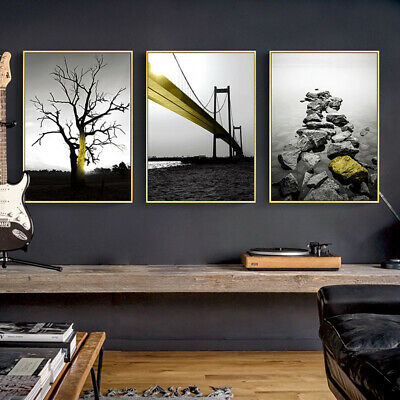 CO_ Simple Modern Landscape Canvas Painting Wall Art Room Bedroom Home Decor Lit