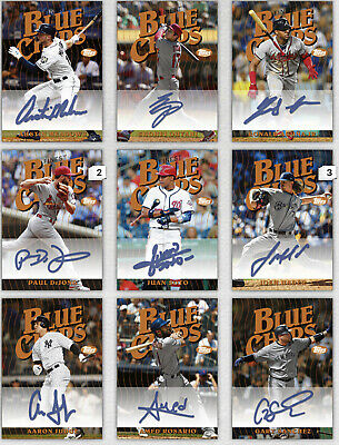Topps Bunt 2019 Finest Blue Chips Signature Choose The Digital Card