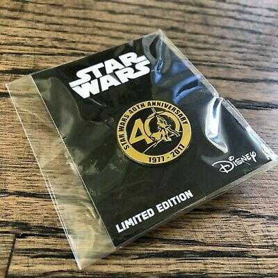 """Star Wars 40th Anniversary 1"""" Metal Pin-Limited Edition Disney NEW in Package!"""