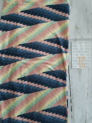 LuLaRoe leggings TC 12-22 NWOT blue pink yellow green pastels chevron