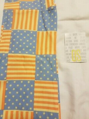 LuLaRoe leggings OS NWOT Americana flag stars stripes red white blue vintage